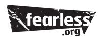 Fearless dot org logo
